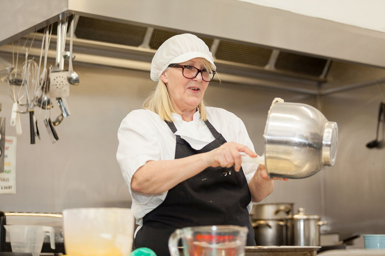 Mandy is Lukestone Care Home's fabulous Chef, baking