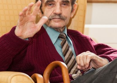 One of our gentlemen residents at Lukestone Care Home.
