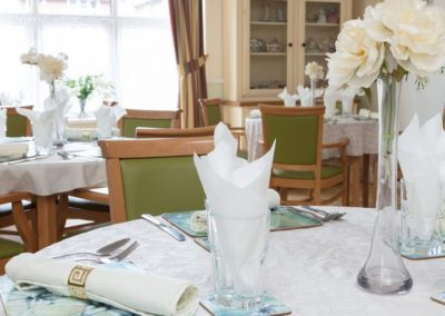 The Dining Room at Lukestone Care Home.