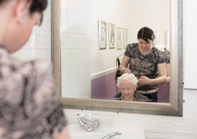 Residents of Lukestone Care Home can enjoy being pampered in our Hair Salon.