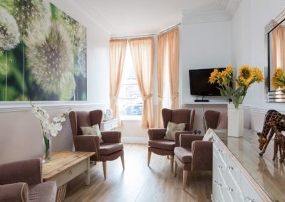 Our Visitors Lounge at Lukestone Care Home.