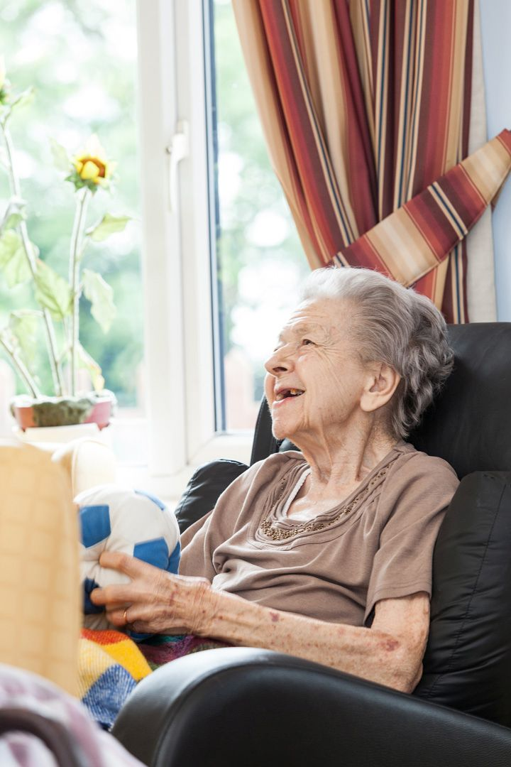 One of our ladies at Lukestone Care Home.