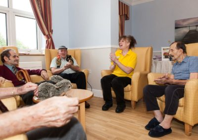 Residents taking part in Activities in the Main Lounge.