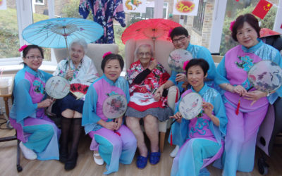 Chinese Dancers visit Loose Vally Care Home