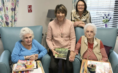 Author Sylvia Bryden-Stock with staff and residents at St Winifreds Care Home