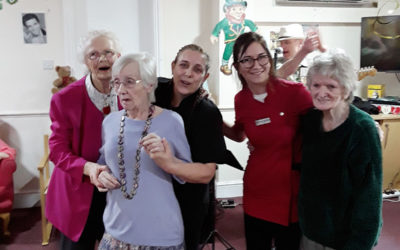 St Patrick's Day celebrations at Lulworth House Residential Care Home