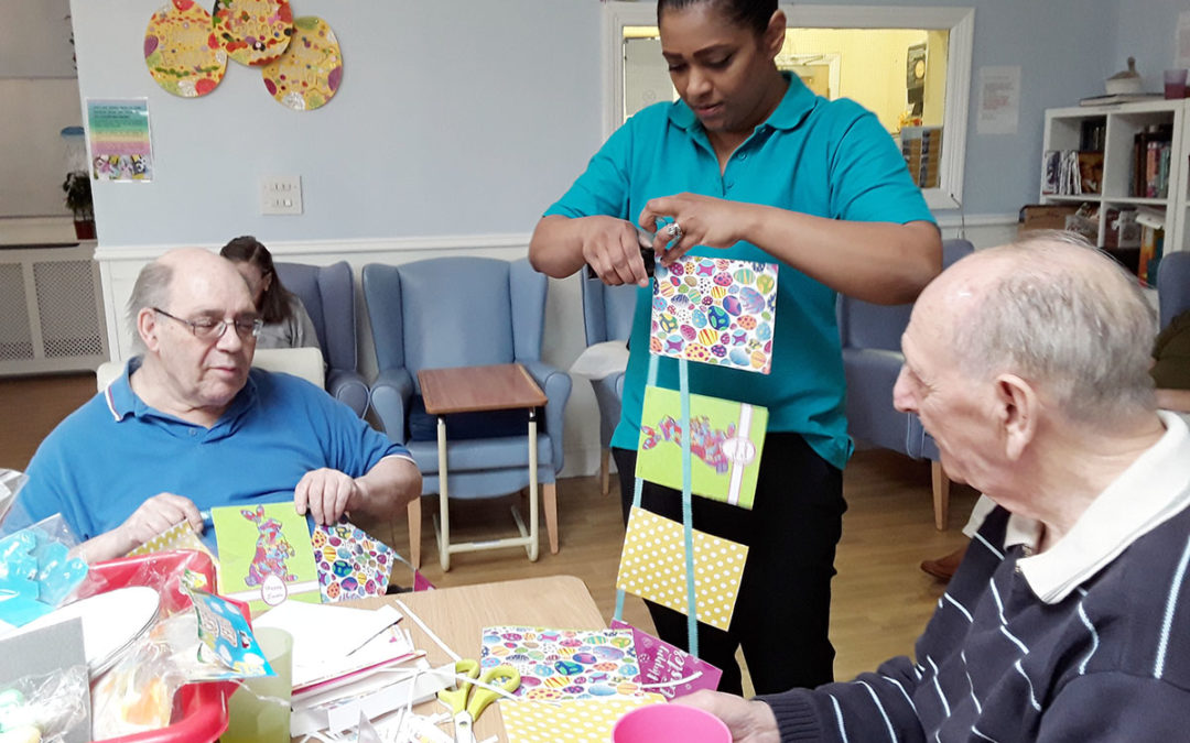 Lukestone Care Home Easter crafts and egg hunt