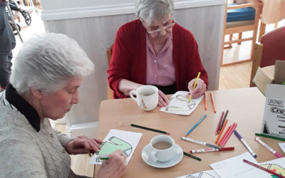 Making a wish craft activityat Woodstock Residential Care Home