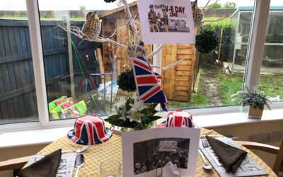 VE Day display at Silverpoint Court