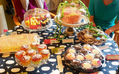 A table full of cupcakes, cakes and biscuits at Lukestone Care Home