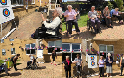 Sports day events at Silverpoint Court Residential Care Home