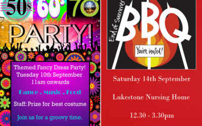 Lukestone party and BBQ promotional posters