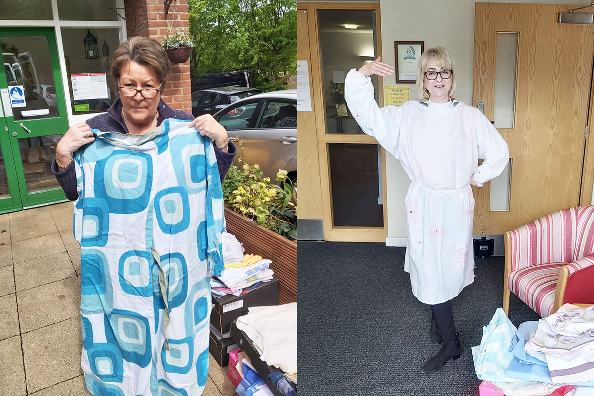 Sewing community donates handmade gowns to Nellsar Care Homes